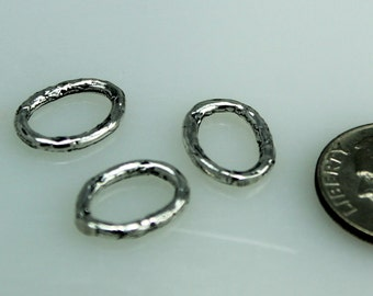 Links Oval Jump Rings Sterling Silver 003/OR75