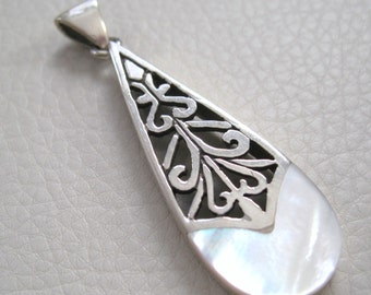 Sterling Silver, MOP Pendant