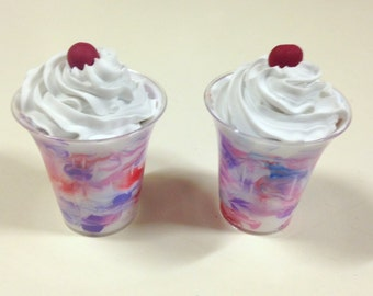 "American Girl Fruit Swirl Parfait - 18"" doll food, ice cream, shake, summer treat"