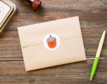 Acorn stickers/labels - gift wrapping