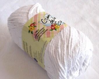 Snow WHITE Cotton Yarn, Creme de la Creme, 100% cotton yarn
