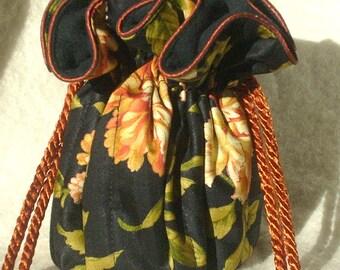Anti Tarnish carnation Jewelry Bag Pouch in burnt orange
