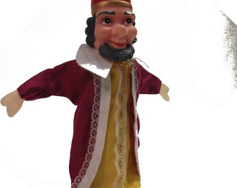 Vintage Fairy Tale King Puppet