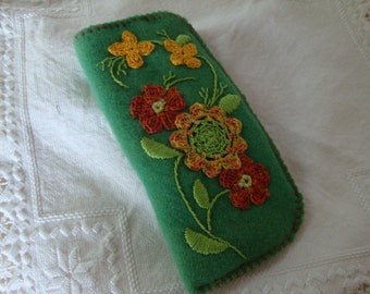 mixed floral eyeglass case