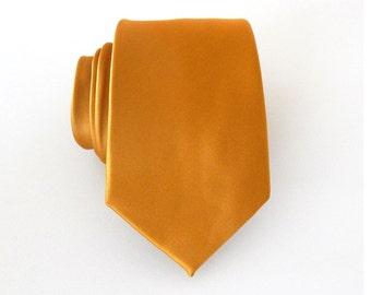 Necktie Indian Mustard Yellow Mens Tie