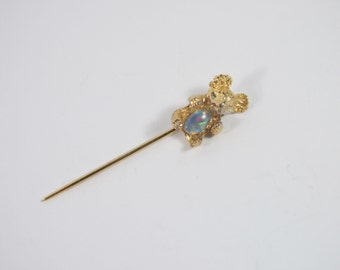 Koala Bear Stick Pin Lapel Brooch Vintage 60s Jewelry