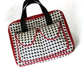 Sample Sale iPad Case  iPad Bag Ready to Ship Houndstooth with red trim