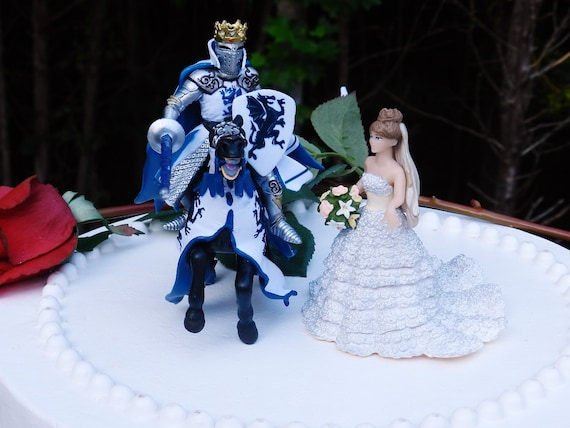 Knight On Horse Cake Topper