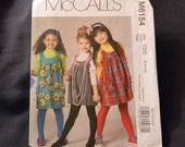 McCalls Girls Jumpers Pattern N-M6154 Uncut Sizes 2 thru 5