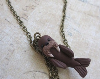 I am the Walrus coo coo ca choo - Hand sculpted necklace
