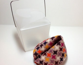 Fabric Fortune Cookie.  Gift or favor.  Personalized.