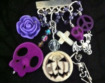 Rockabilly Day of the Dead Charms For Your Handbag Key Hook Key Chain
