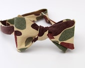 duck hunting camo bow tie