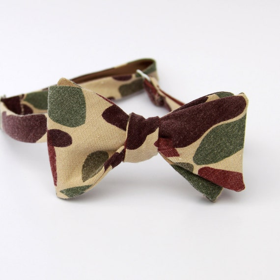 items similar to duck camo bow tie on etsy