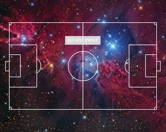 Football / Soccer Nebula 11x17 print