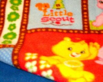 Fleece Blanket with Care Bear Print