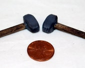 Miniature set of 3 hatchets hammers sledge for doll houses