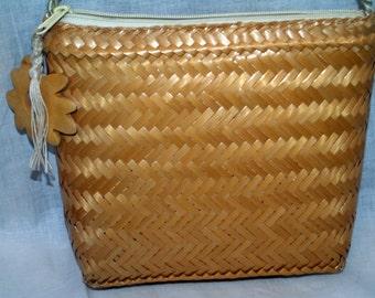 Vintage Vanessa shoulder bag straw purse