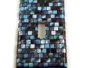 Light Switch Cover Wall Decor Switchplate Cover  Single Switch Plate in Tranquil Tiles (203S)