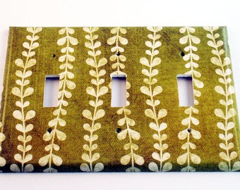 Triple Light Switch Cover  Wall Decor Switch Plate Switchplate in  Vines (138T)