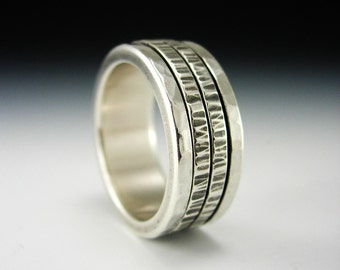 Kinetic Series - Vitality.  Sterling Silver Spinner Ring