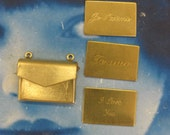 Natural Raw Brass Envelope With Letter Insert Charm  561RAW x1