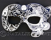 Fairy Leather Mask Costume Mask Fairy Mask Masquerade Shakespeare Renaissance Mask Halloween Mask Fantasy Mask Mardi Gras Carnival Mask
