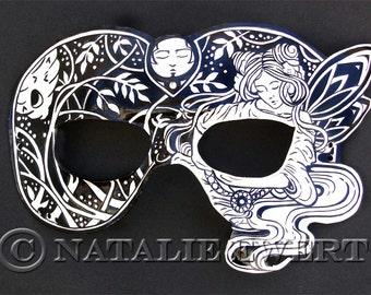Fairy Leather Mask Costume Mask Fairy Mask Masquerade Shakespeare Renaissance Mask Halloween Mask Fantasy Mask Mardi Gras Carnival Mask