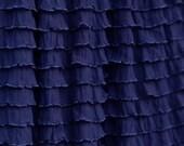 Custom Ruffled Curtain Valance, Navy blue 1 inch ruffle, 13 or 20 inch