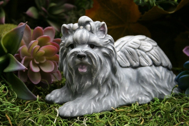 Yorkie Angel Memorial Statue Yorkshire Terrier By Phenomegnome