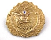 Special Listing for James Sadler: Vintage Member's Badge - Western Pennsylvania Fireman's Association