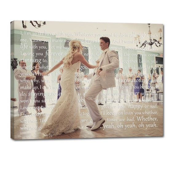 Wedding Gift Canvas Painting : Canvas Photo Word Art Wedding Gift Art Words Text Photo 10x14 inch