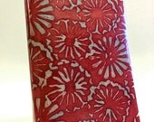 Paperback Book Cover - Red Floating Batik - Small Mass Market Size