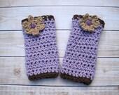 Crochet Leg Warmers, Baby Leg warmers, Infant Legwarmers, Newborn Leg Warmers, Infant Leggings, Girl Leg Warmers, Purple, Baby Photo Prop