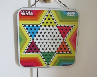 Chinese Checkers Board Magnets Metal Game Board Memo Board Home Office Decor