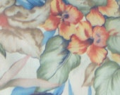 "Pastel Tropics 100 % cotton 59"" wide Cranston Print Works USA 7 three fourths yard"