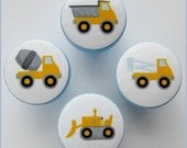 Construction Knobs • Cement Truck • Dump Truck • Drawer Knobs • Bucket Truck • Drawer Pulls • Yellow Construction Knobs •