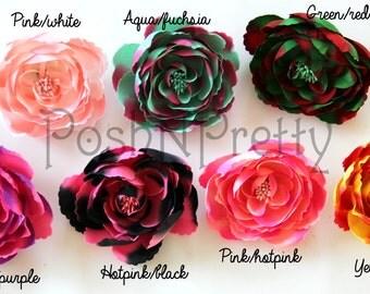 "3"" Multi Camelia Layered flower - Choose Colors - Set of FIVE"