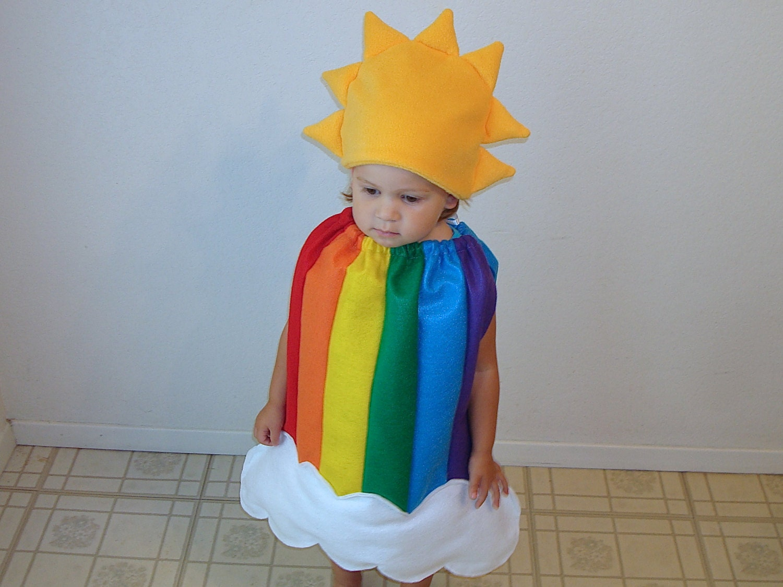 Baby Halloween Costume Rainbow Dress Sun Cloud
