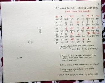 1964 Pitmans Instruction Pack for Pitmans Teaching Alphabet Cards