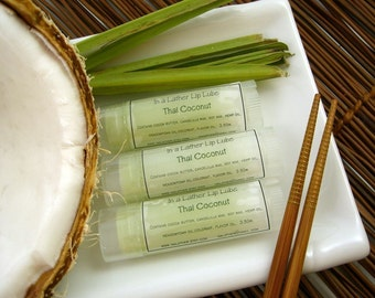 Handmade Lip Balm flavored with Thai Coconut