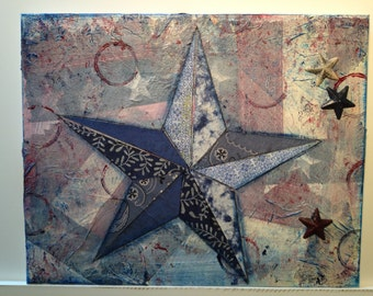 Patriotic Star Collage Blue 1