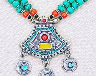 Dainty Vintage Nepali Life Spiral Necklace