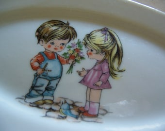 wee tiny oval plate