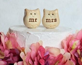 Wedding cake topper...Love bird owls... mr mrs