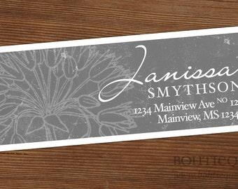 Personalized Return Address Label Sticker - Tabitha Rectangle