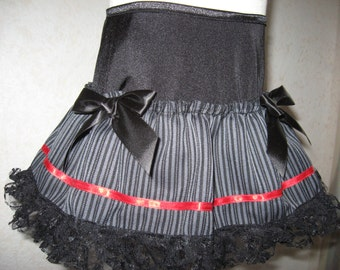 NEW Black,Grey,Red Pinstriped Mourning Skirt,Punk-All sizes,Goth,Rock,Lolita,Emo sequoia