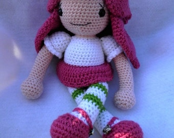 Doll Crochet Pattern Sugar Shortcake