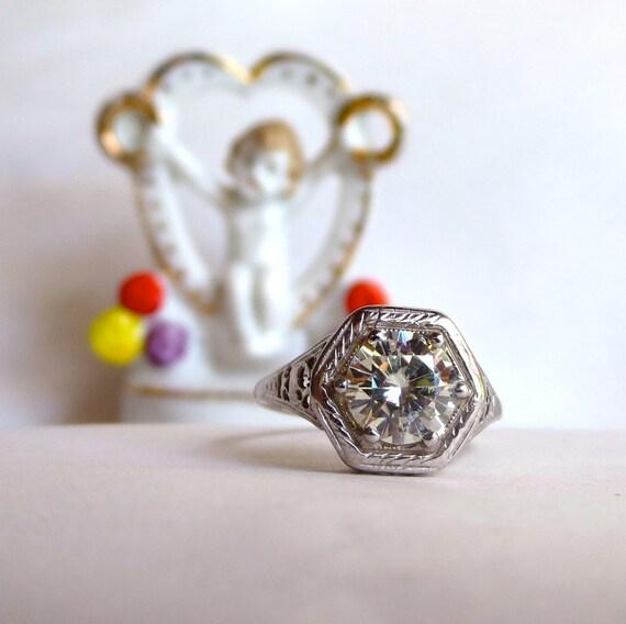 moissanite engagement ring custom antique by