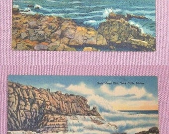 Lot of 2 Vintage Postcards  York Cliffs  Maine United States